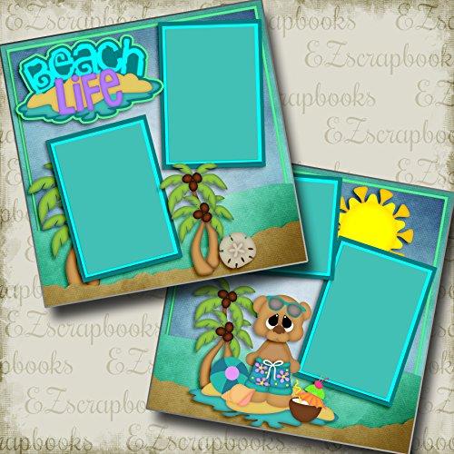 Beach Life Boy - Premade Scrapbook Pages - EZ Layout 2988