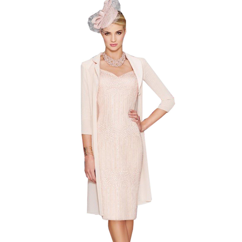 dressvip Light Pink Sweetheart Short Prom Dress With Half Sleeves Chiffon Coat Long (6): Amazon.co.uk: Clothing