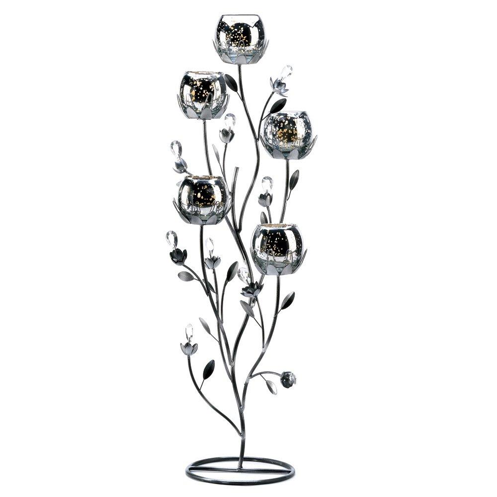 10 Wholesale Silver Tulip Tree Candelabra Wedding Centerpieces by Tom & Co.
