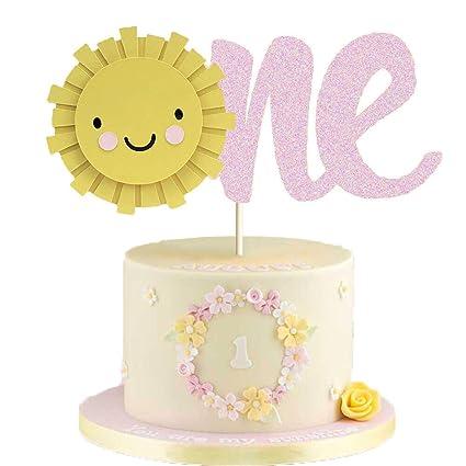 Sunshine - Decoración para tarta de primer cumpleaños ...