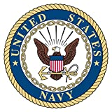 navy car window decals - 4 Pack USN US Navy United States Patriotic Military Seal Emblem Auto Decal Bumper Sticker Vinyl Decal For Car Truck Van RV SUV Boat Carrier Jet Window Support USA Military (Emblem 2)