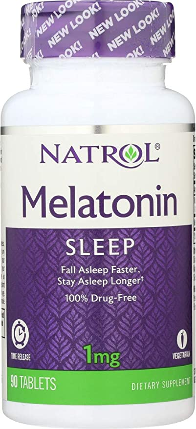 Natrol (NOT A CASE) Melatonin TR Time Release 1 mg, 90 Tablets