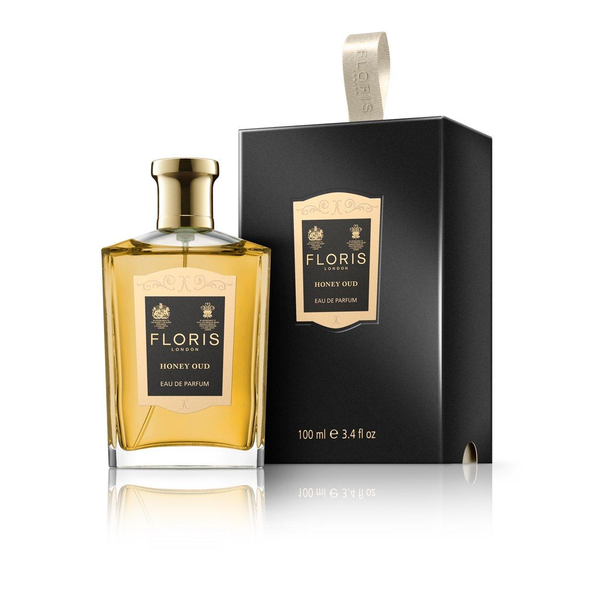 Floris London Honey Oud Eau de Parfum Spray, 3.4 Fl Oz