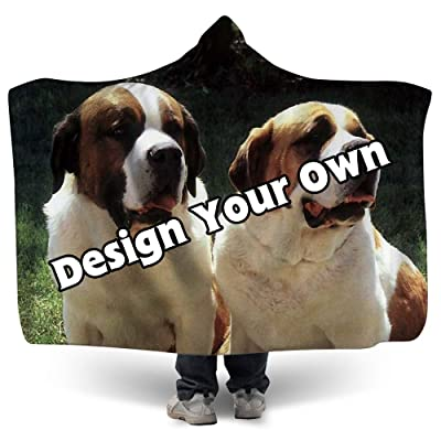 """NIWAHO Personalized 50"""" x 60"""" Sherpa Hoodie Blanket Customized Design Your Own Picture or Names for Youth Boys Girls: Home & Kitchen"""