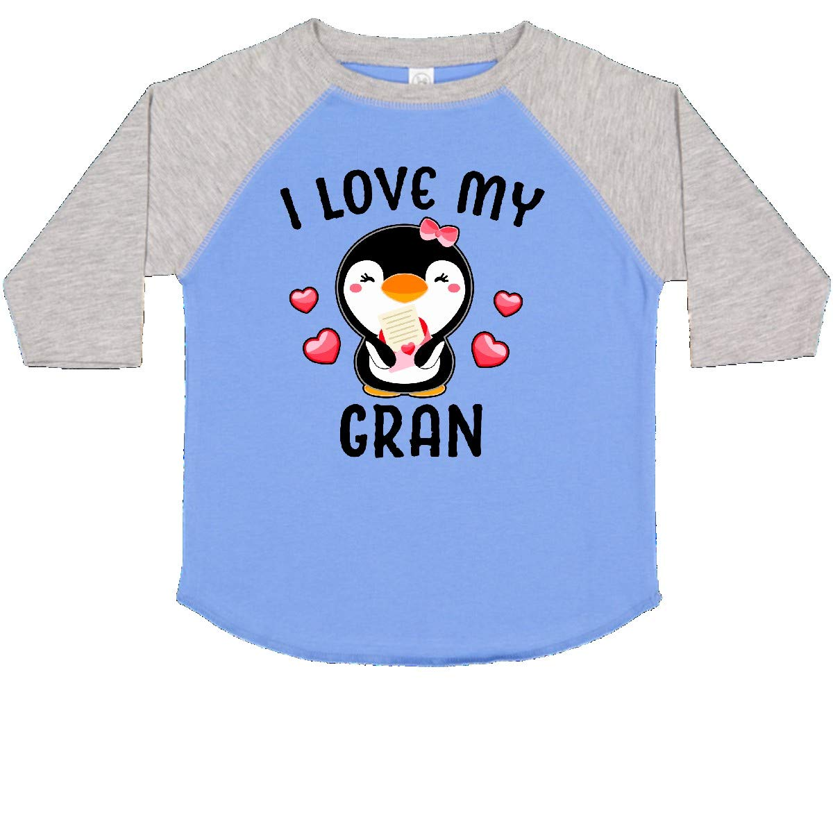 inktastic I Love My Gran with Cute Penguin and Hearts Toddler T-Shirt