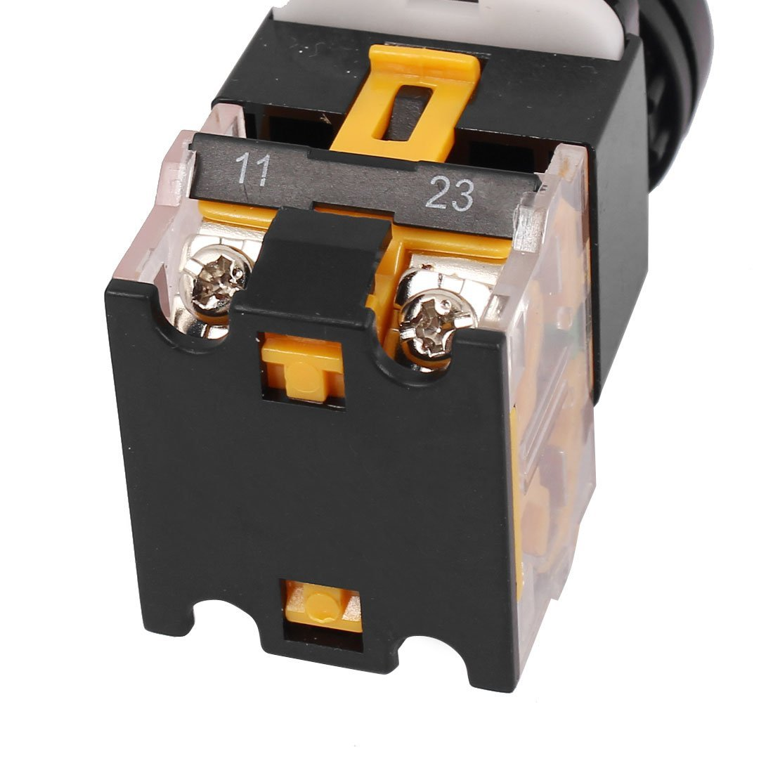 HLin 3Pcs LA38-203 AC 440V 10A 2 Position ON//Off Rotary Selector Switch Orange Selector Switch