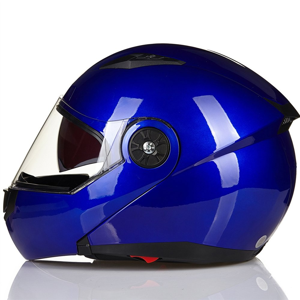 XXL, Matte Black ILM 5 Colors Motorcycle Modular Flip up Dual Visor Helmet DOT