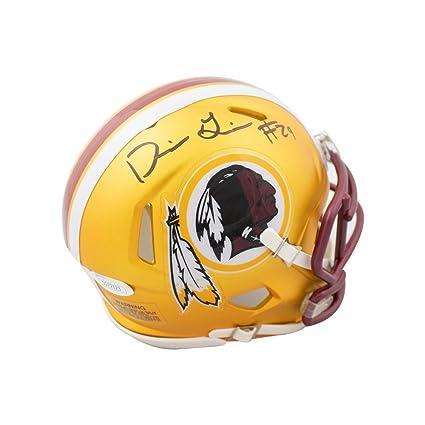 Image Unavailable. Image not available for. Color  Derrius Guice  Autographed Washington Redskins Blaze Mini Football ... 8eba71cf4