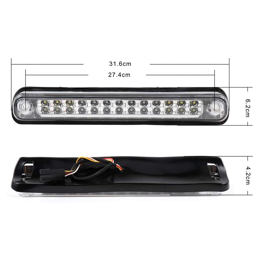 TUPARTS 3rd Brake Light High Mount Brake Light 16520063//16521970 LED Rear Light Chrome+Clear Lens Fit for 1988-1999Chevy C//K 1500 1988-2000Chevy C//K 2500 1988-2000Chevy C//K 3500 1988-1999GMC C//K 1500