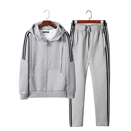 WYX Mens Chándal Set Jogging Bottoms Sudaderas Zip Traje ...