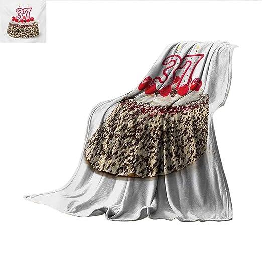 Manta de 36 cumpleaños, diseño de Globos de Fiesta con ...
