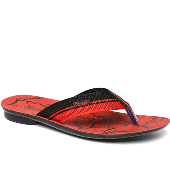 PARAGON Vertex Men's Red Flip-Flops Men's Flip-Flops & Slippers at amazon