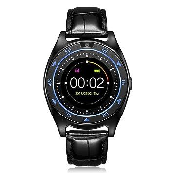 Coloré(TM) Bluetooth Montre Connectée avec Grand Rond Écran Tactile de 1.3 Pouces Smart Fitness Tracker ...