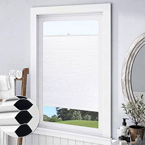 Keego Blackout Cellular Shades Top Down Bottom Up Custom Cut To Size Window Blinds White 24 W X 64 H Room Darkening Thermal Honeycomb Blinds For Bedroom Windows French Door Skylight