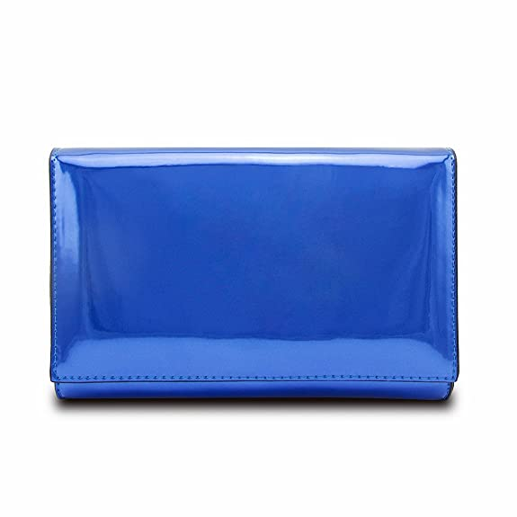 Jieway Women Mirror Bright Patent Leather Clutch Purse Handbags Shoulder Tote Bags (Blue): Amazon.co.uk: Shoes & Bags