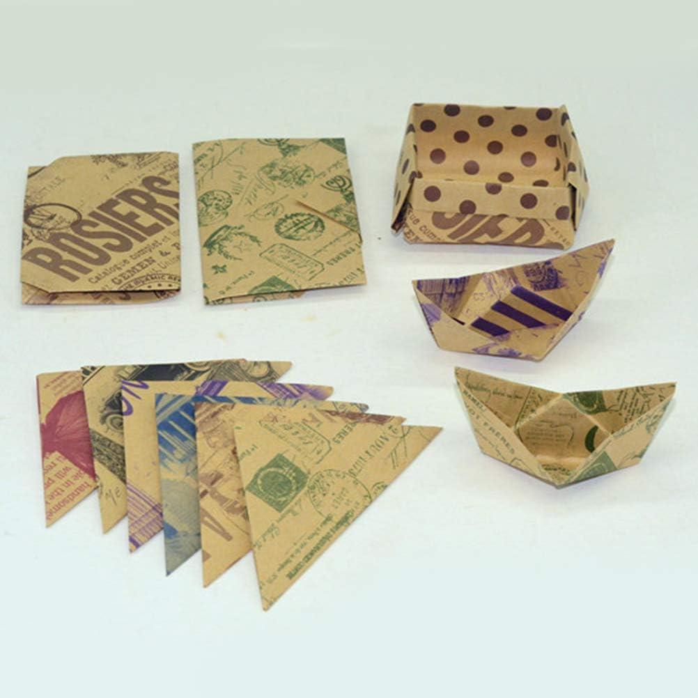 60pcs NUOBESTY pli facile papier origami kraft papier carr/é recto verso couleurs mod/èle r/étro pour les projets darts et m/étiers /étudiant /étudiant