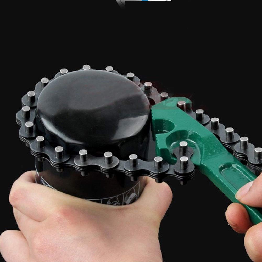 PinShang 8 Oil Filter Chain Wrench Oil Cup Removal Auto Plumbing Pipe Tool 16 inch