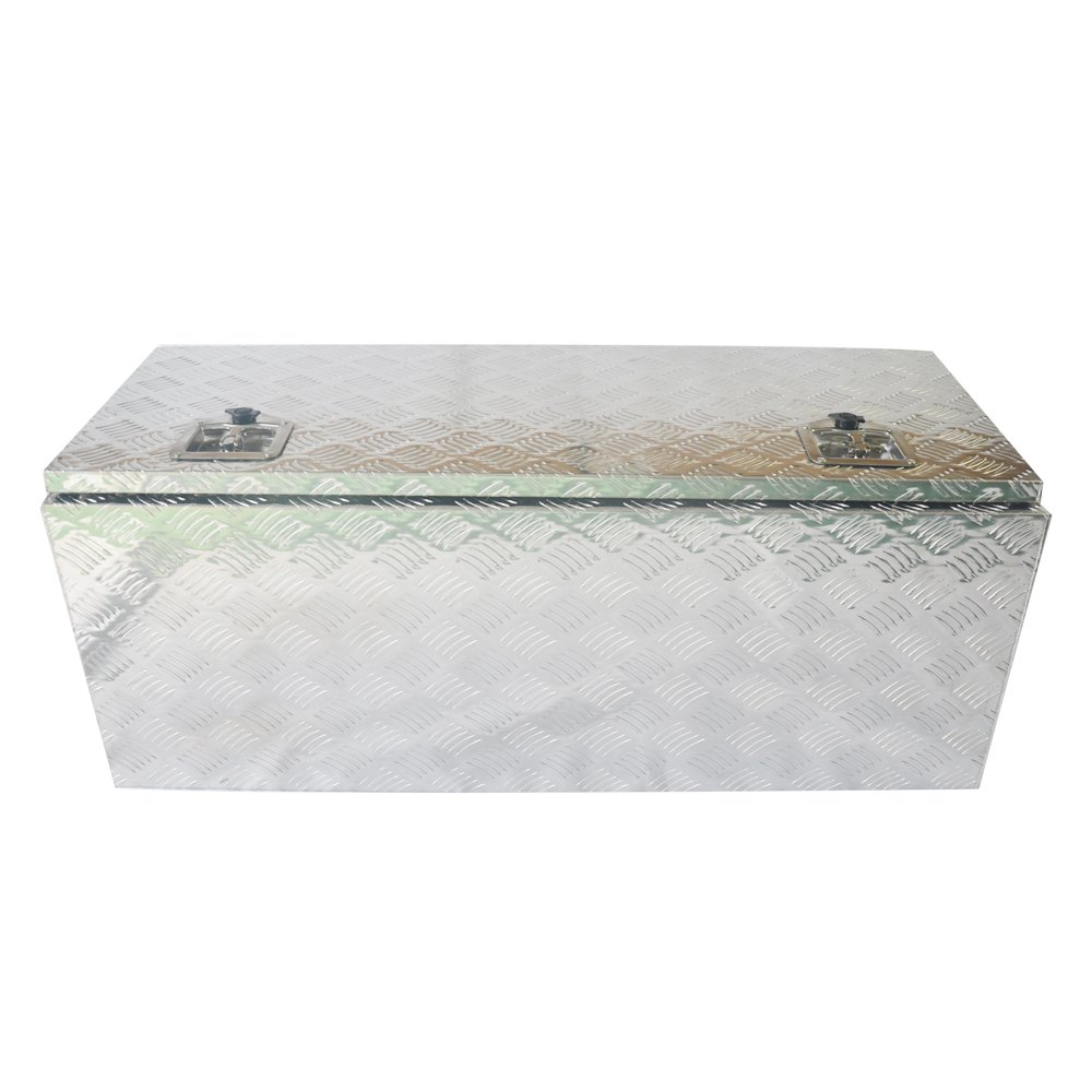 42''x 18''x 16''Aluminum Tool Box for Truck Pickup Crossbody Underbody Underbed RV ATV Trailer Storage w/Lock