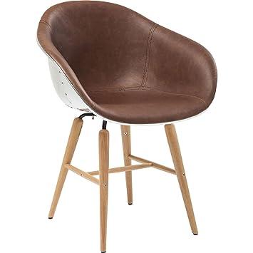 Kare 78484 Stuhl mit Armlehne Forum Soho Brown: Amazon.de: Küche ...