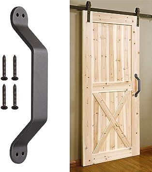 Yescom - Tirador para puerta de garaje, de hierro fundido, resistente, para puerta corredera de madera, 22,86 cm: Amazon.es: Bricolaje y herramientas