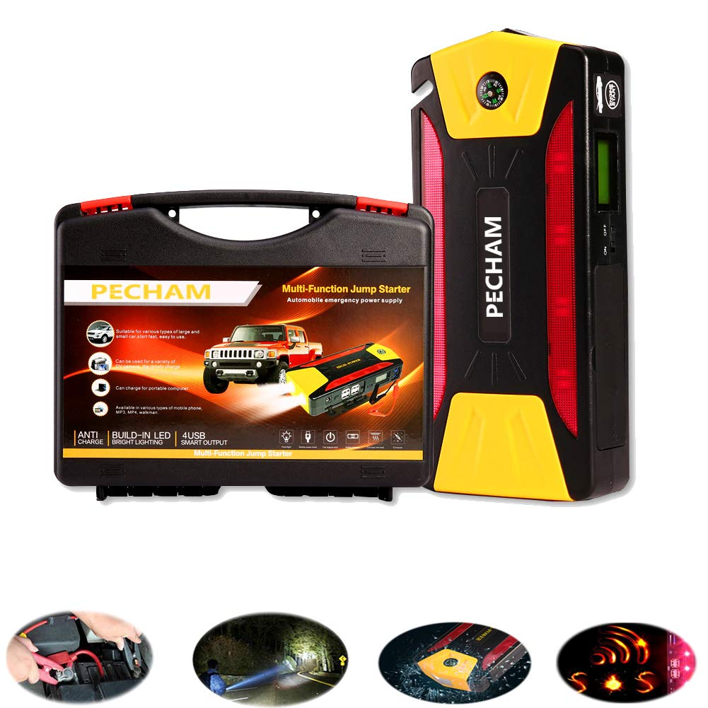 Car Jump Starterportable Auto Battery Starter Set Short Circuit Protection 12v 24v Truck 600a Peak 20000mah Booster Vehicle Batterys Charger With Batteries Pack