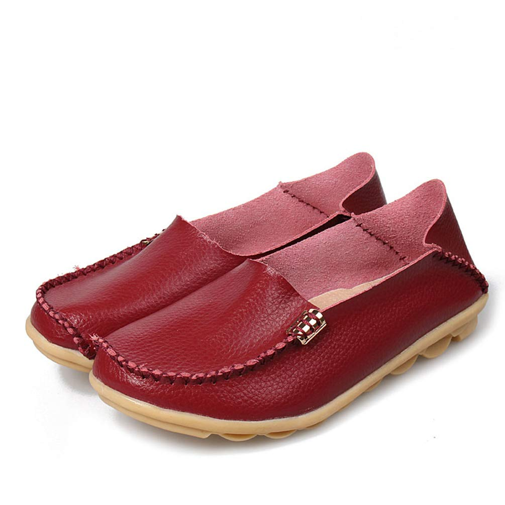 JOYBI Womens Round Toe Loafers Shoes Faux Leather Slip On Wild Comfy Fashion Flat Casual Driving Moccasins