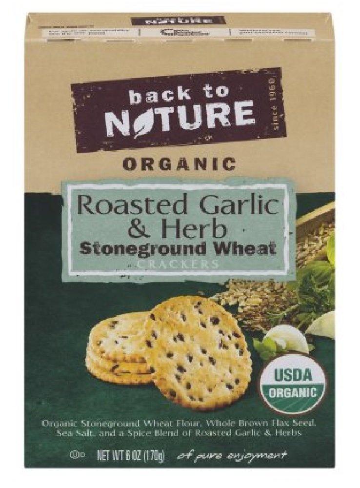 Back/Natur Crackers,Og2,Grlc Herb 6 Oz (Pack Of 6)