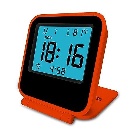 Creativo reloj de alarma voz voz Digital reloj de alarma electrónica LED reloj calendario electrónico alarma