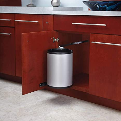 Amazon.com: Stainless Steel Pivot Out Trash Can Door Mounted ...