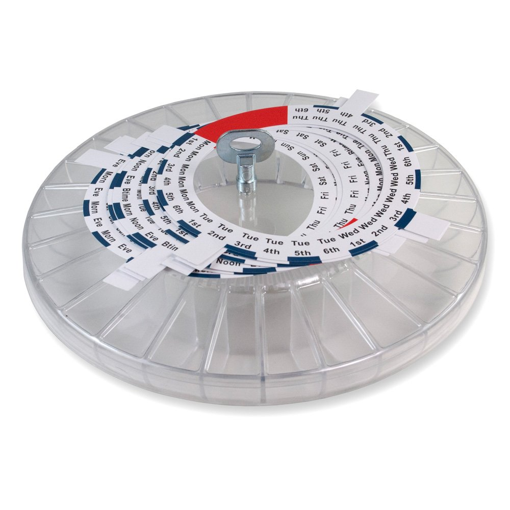 Extra Tray, 6 Dosage Rings and Spare Key for Gms Med-e-lert Automatic Pill Dispenser (Extra Tray, Rings, Key Only)