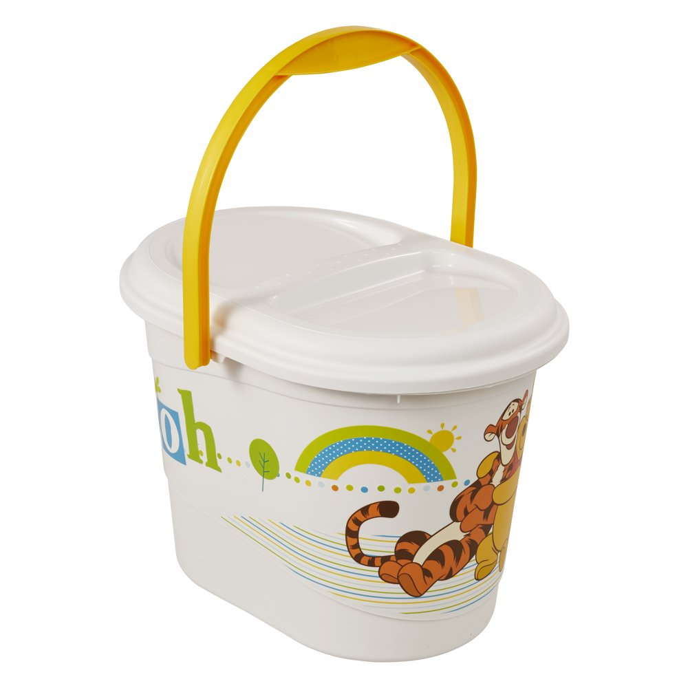 Plastorex - White Nappy Bucket with a Decorative Design OKT 1838 WI