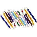 Sharplace 20pcs Montessori Perles Multicolores Matériel Mathématiques Jouet de Comptage Cadeau Noël pour Enfants