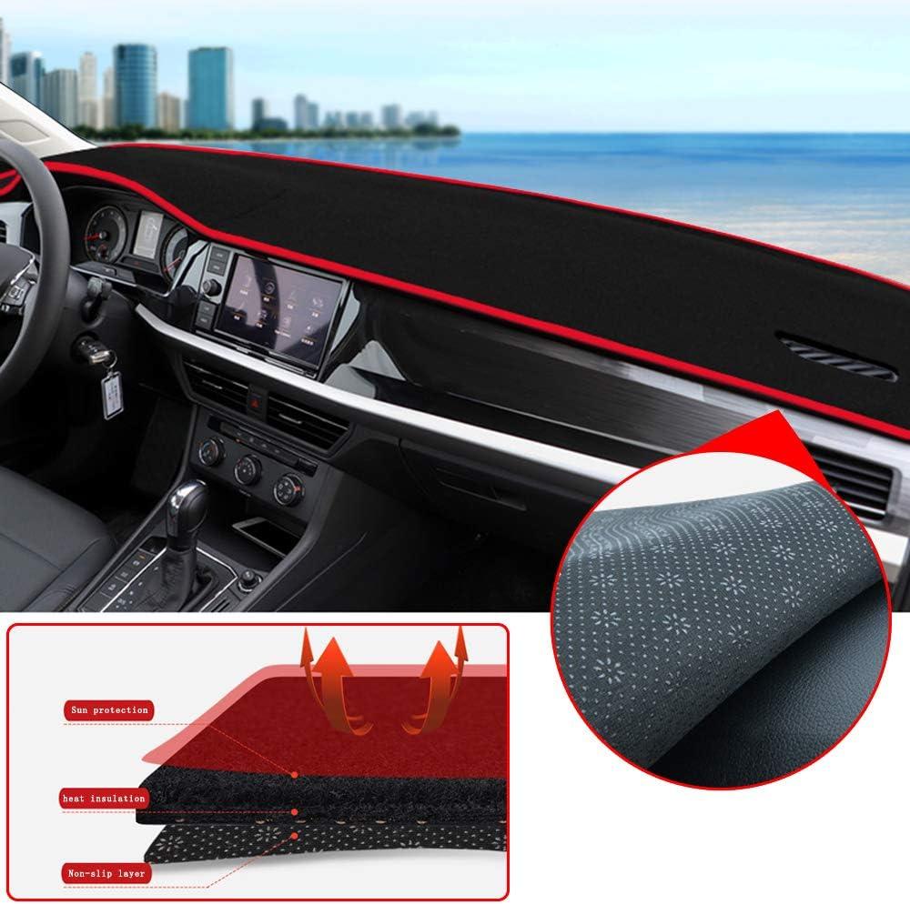 Linkslenker Rot Faden Tuqiang Auto Armaturenbrett Abdeckung f/ür Peu geot 206 207 307 Sonnenschutz Carpet Dash Mat Auto Armaturenbrett Matte