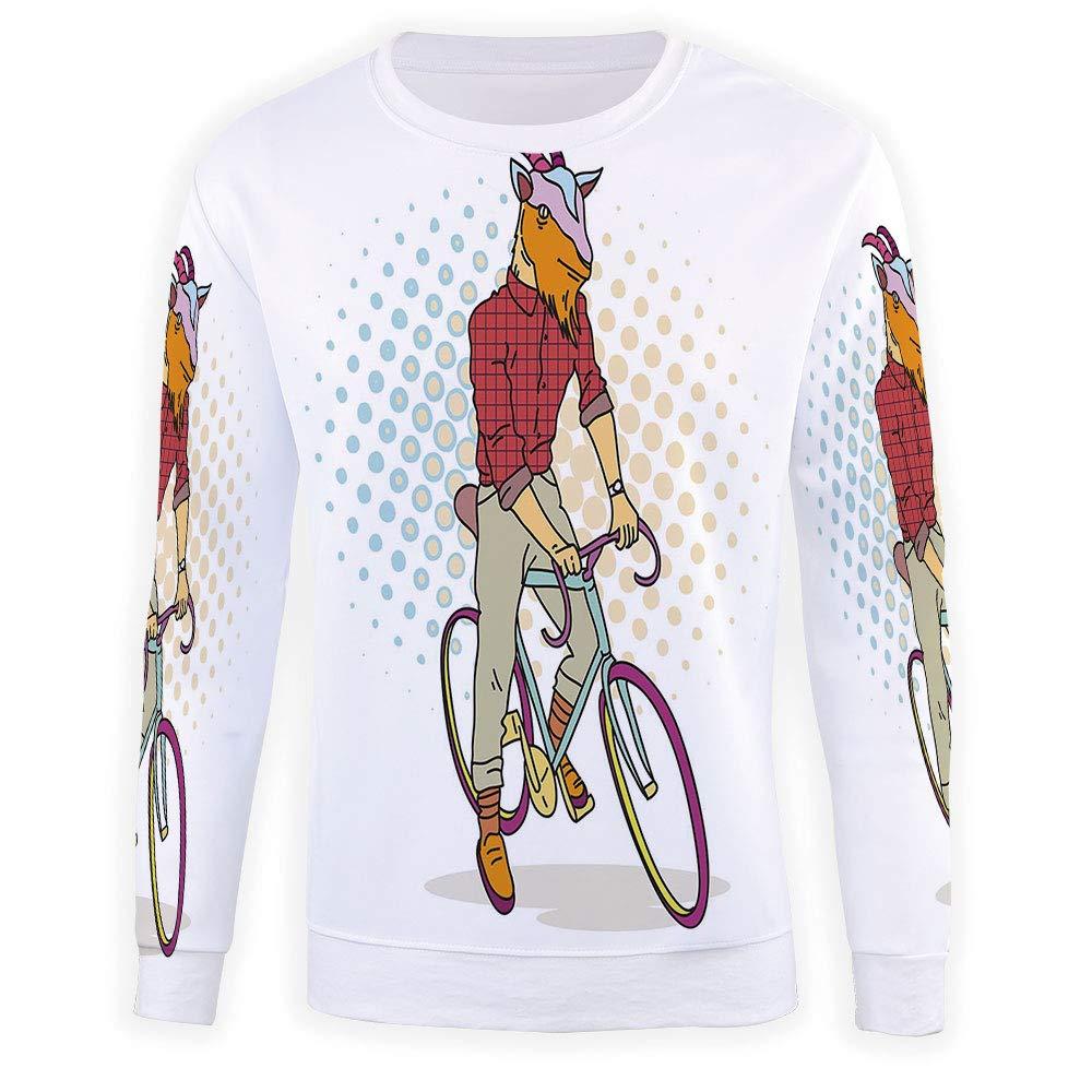 MOOCOM Mens Retro Sweatshirt Pullover