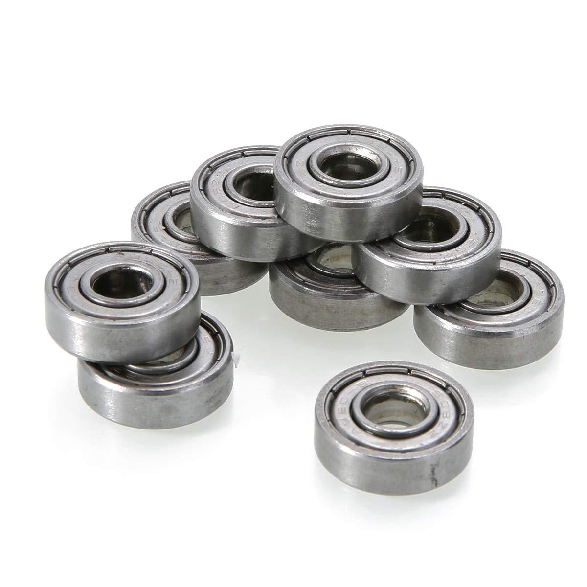 10PCS 608zz Deep Groove Ball Bearing Carbon Steel For Skateboard Roller Blade