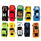 Die Cast Play Set 12 Toy Model Cars Vehicle Set Collection Gift for Boys Girls Kids
