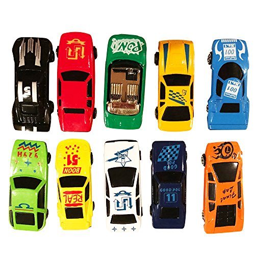 Die Cast Play Set 12 Toy Model Cars Vehicle Set Collection Gift for Boys Girls Kids by LilPals