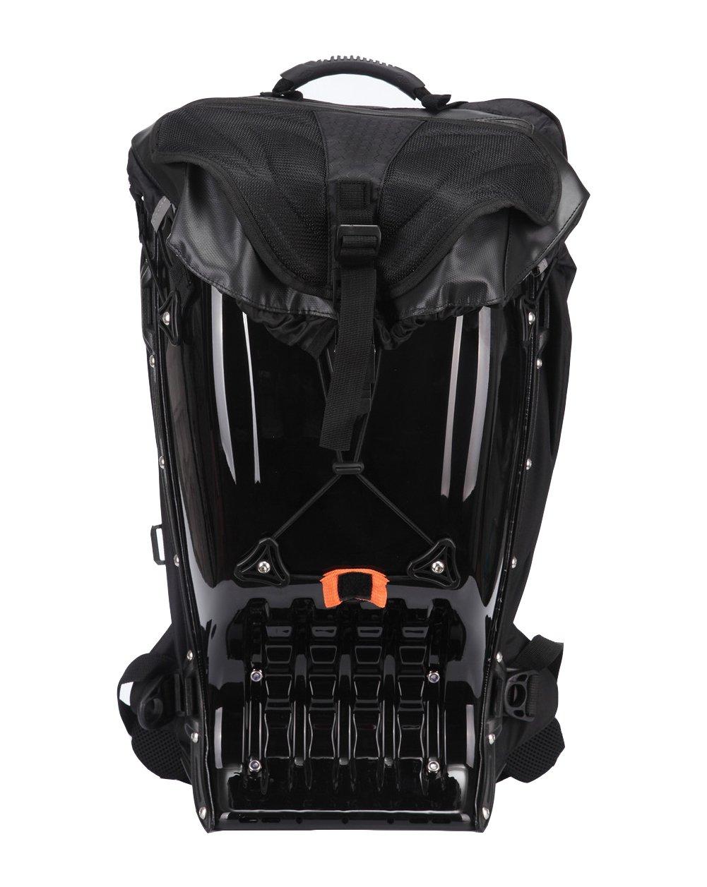 Snail Shop Hardshell Backpack Outdoor Riding Backpack Bag Daypack Hiking Camping Travel Bag(black)