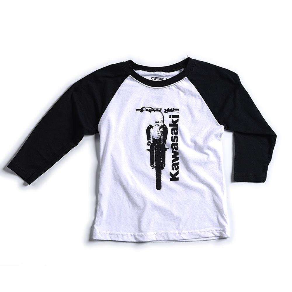 Factory Effex Unisex-Child FX Kawasaki Youth Baseball T-Shirt Black-White, Medium