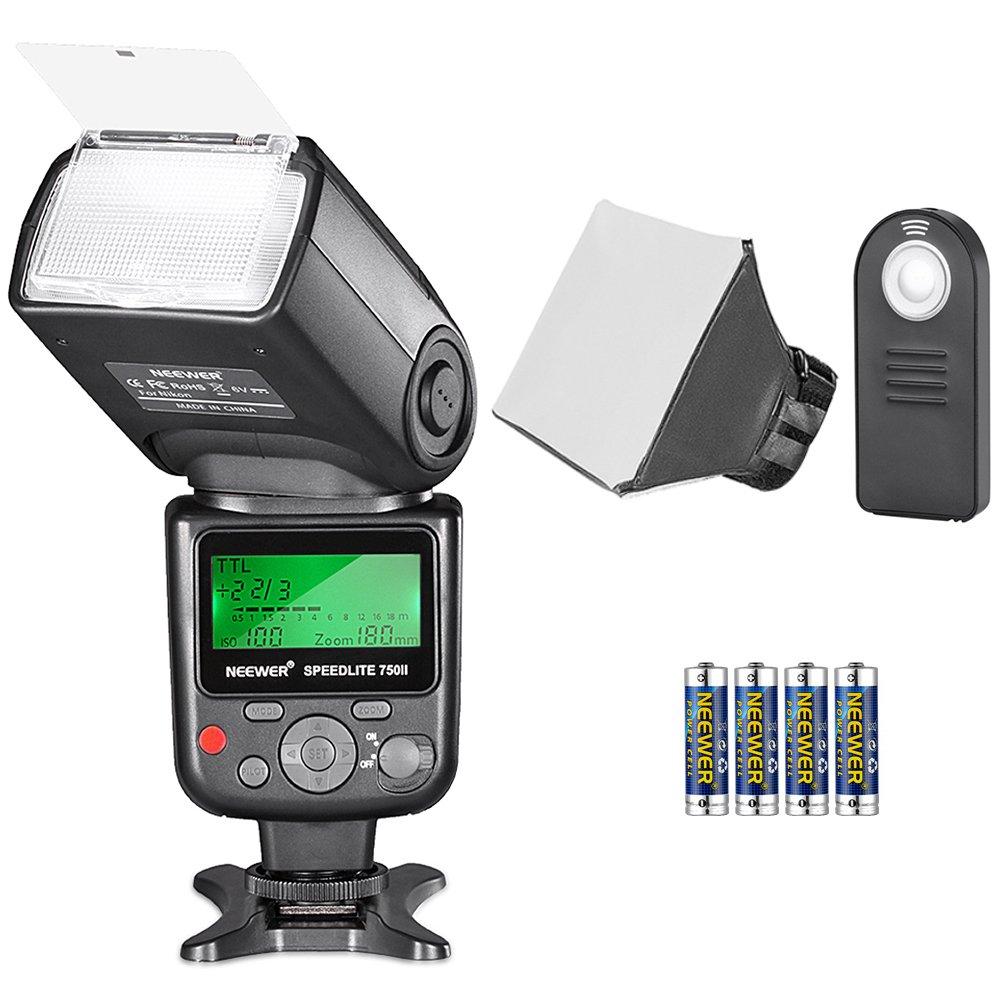 Neewer 750II TTL Speedlite Flash Kit for Nikon with IR Wireless Remote Control,AA Battery,Diffuser for Nikon D7200 D7100 D7000 D5500 D5300 D5200 D5100 D5000 D3300 D3200 D3100 by Neewer