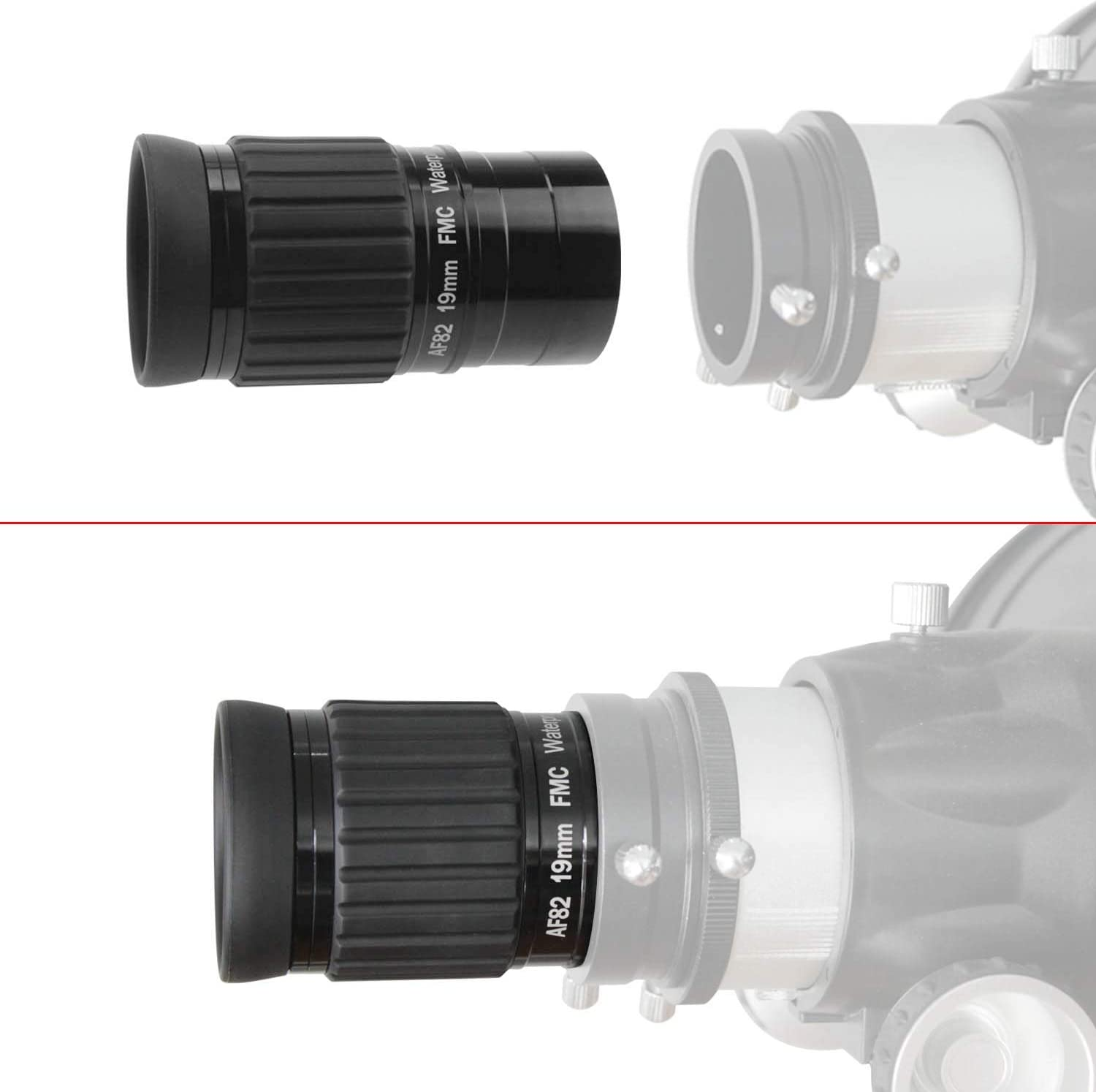 Waterproof /& Fogproof Allows Any Water Enter The Interior and Always Enjoy an unobstructed View Astromania 1.25-82 Degree SWA-10mm Compact Eyepiece