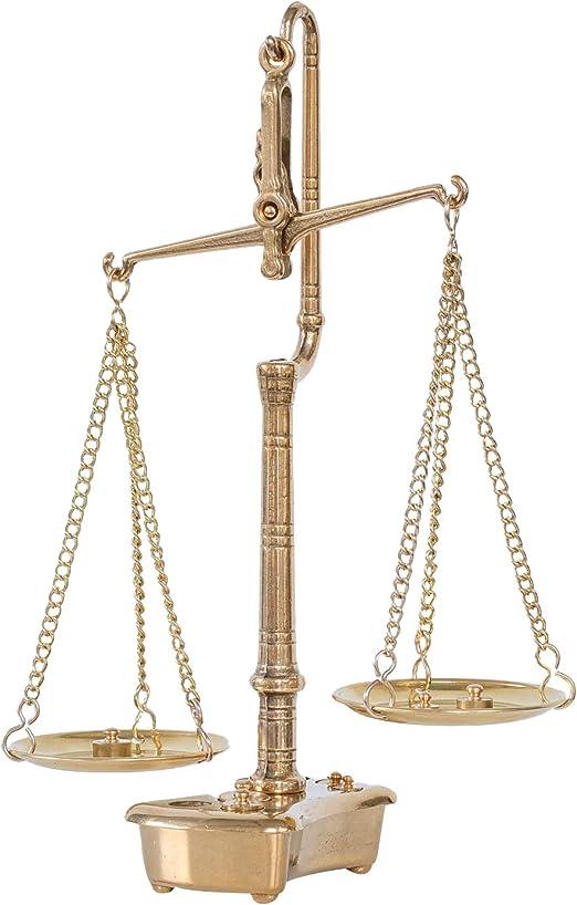 Balanza de Farmacia latón balanza para oroestilo Antiguo: Amazon ...