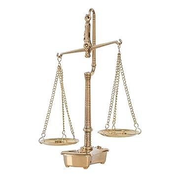 Balanza de farmacia latón balanza para oroestilo antiguo: Amazon.es: Hogar