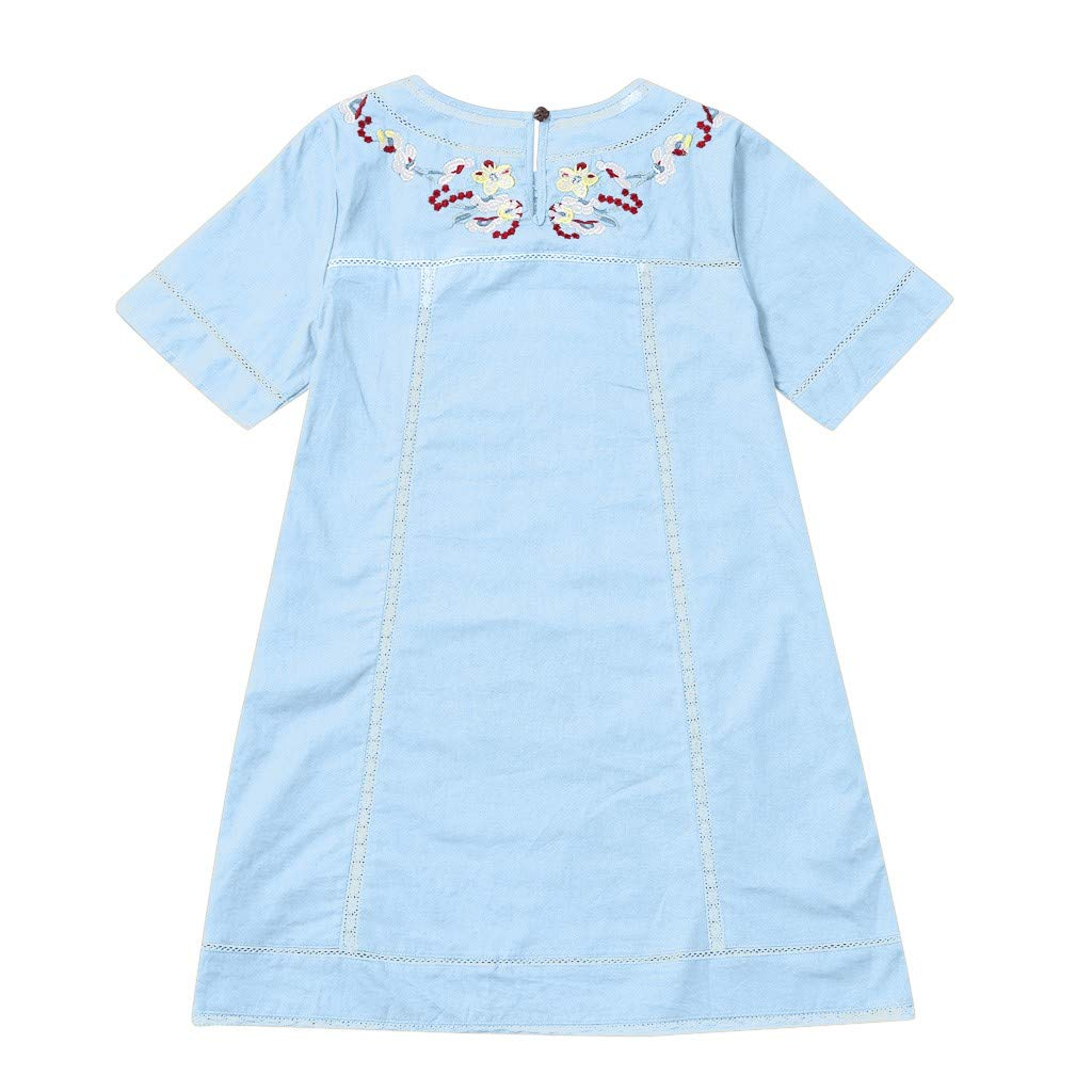 Summer Short Sleeve Dress or Tunic for Holiday Travel and Beach Winkey  Womens Bohemian Embroidered Dresses