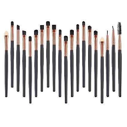 4963bfbc5914 Amazon.com: Ktyssp 20 Pcs Wood Makeup Brush Brush Cosmetics Blending ...