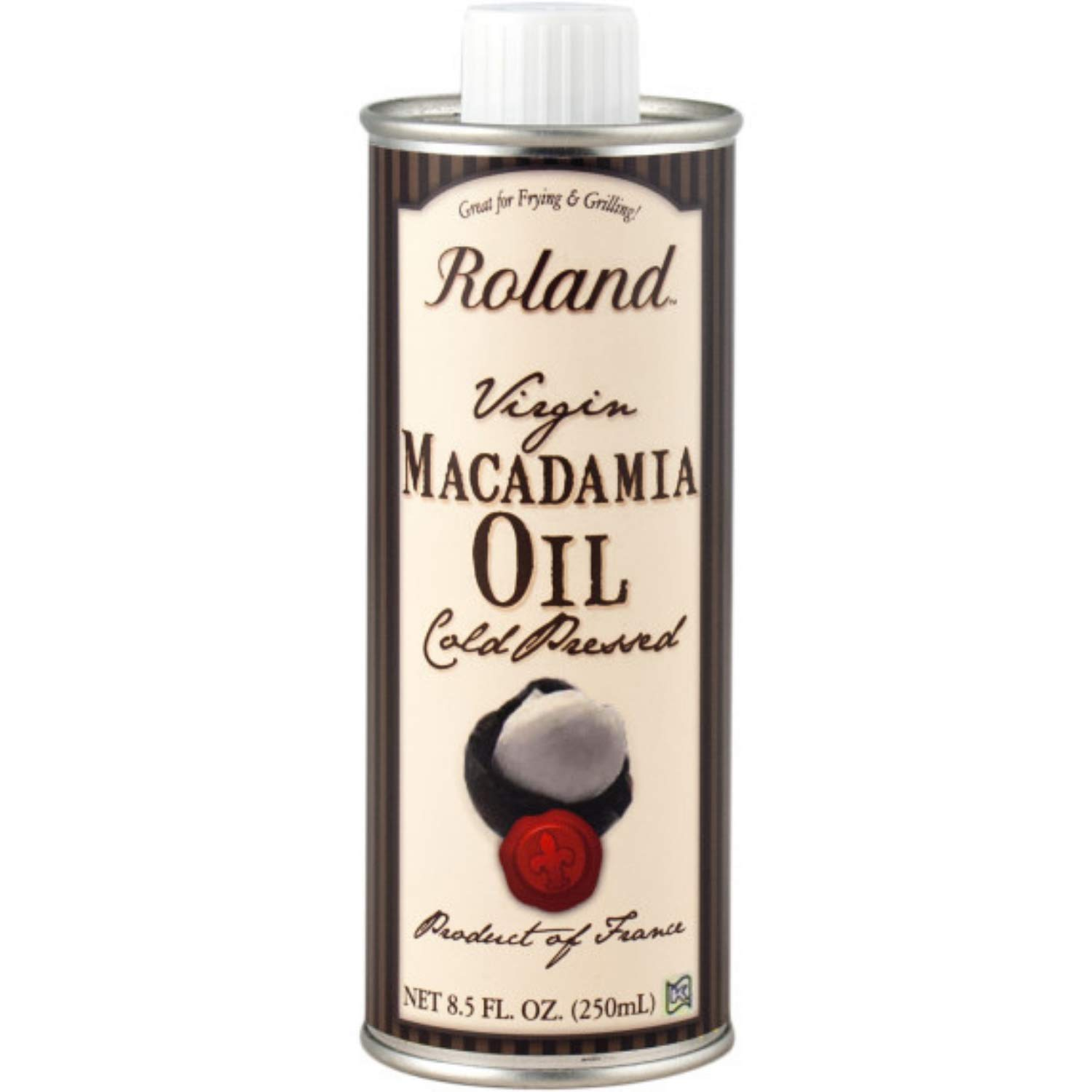 Roland Foods Virgin Macadamia Oil, Cold Pressed, Specialty Imported Food, 8.5 Fl Oz Can
