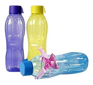 Signoraware agua fresca plástico botella de agua, 1 litro, multicolor (comprar 2 GET 1 FREE): Amazon.es: Hogar