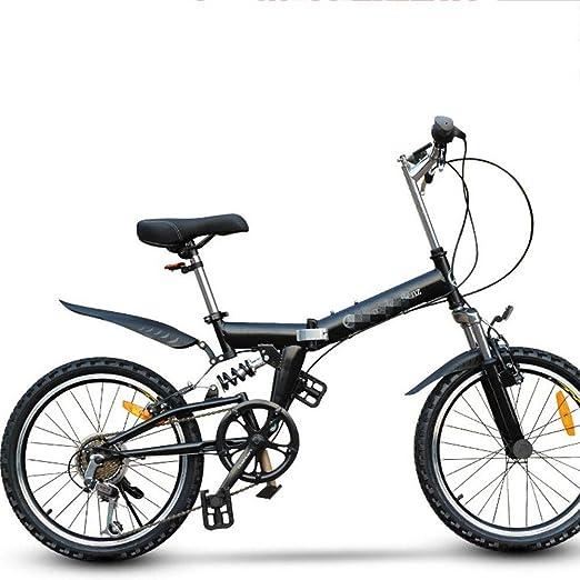 DPGPLP Bicicleta Plegable De 20 Pulgadas De Velocidad - Niños ...
