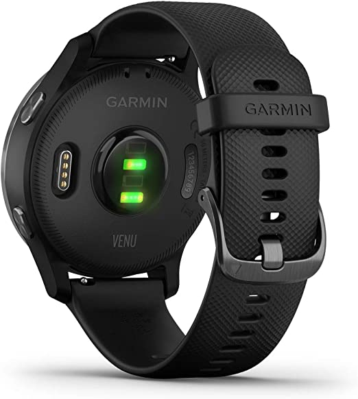 Garmin Venu Gps Fitness Smartwatch Music Player Heart Rate Monitor Black With Bluetooth Headset Navigation Car Hifi