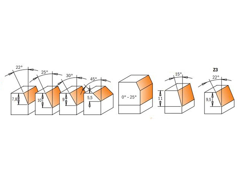 Cmt fresa helicoidal z1+1 d=5x8-22x60 hwm dx 190.050.11